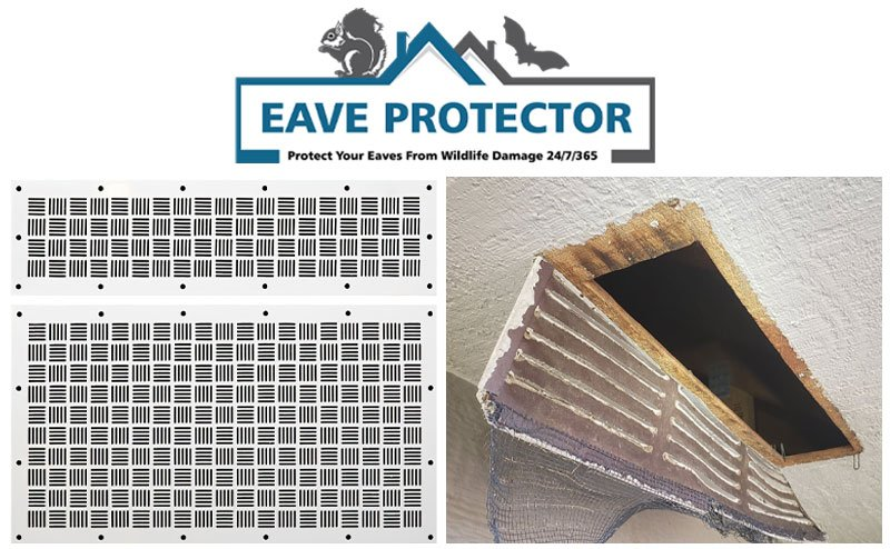 Wildlife Control Eave Protector Photo on Home Page Of Viking Product Supply