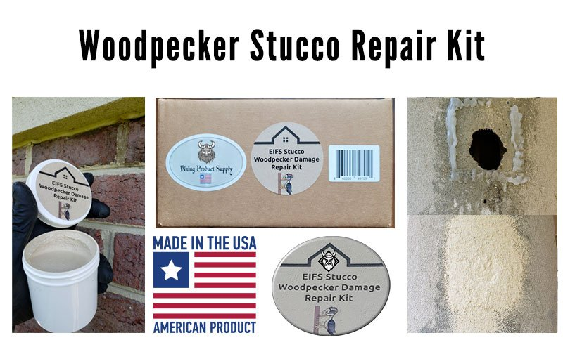 Wood Stucco Repair Kit made and distributed by Viking Product Supply