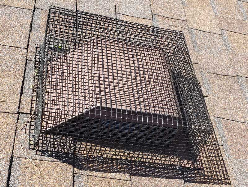 The Vent Shield is easily installed.