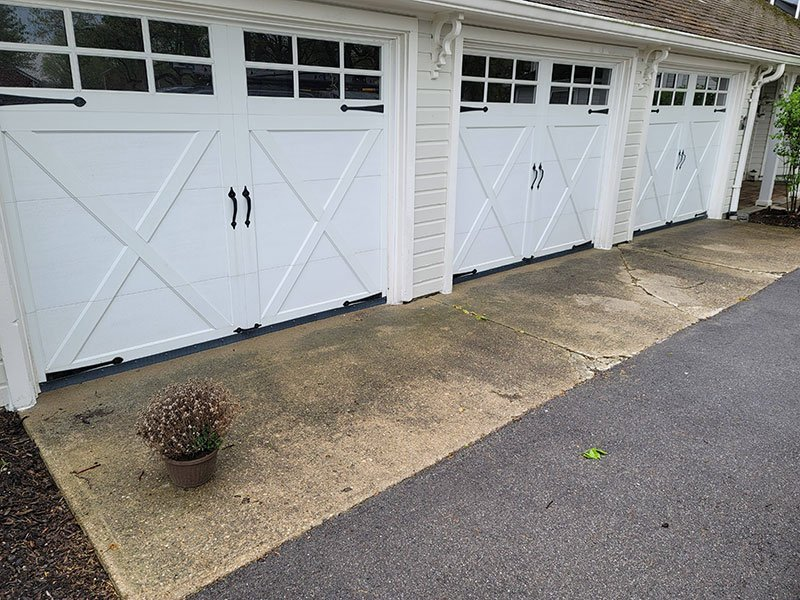 3 garage doors with Rodexit straight proofing strip
